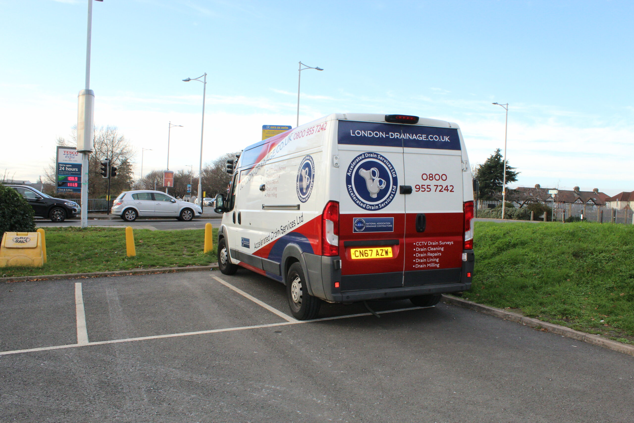 Certified Drain Services Van