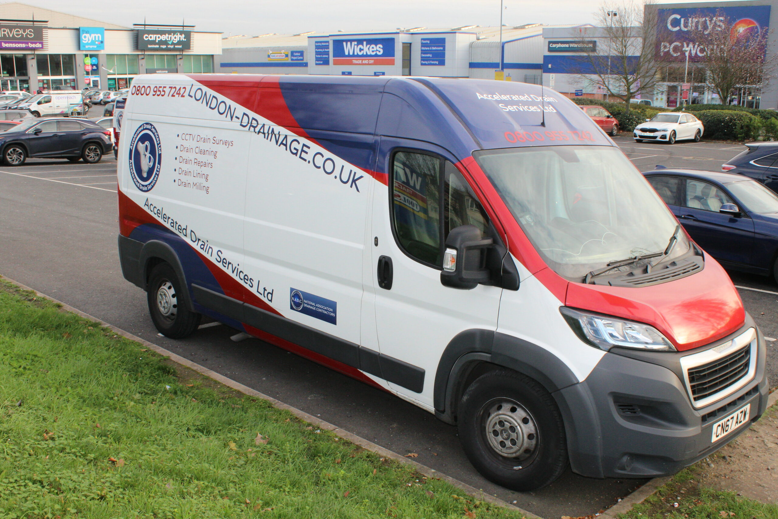 Accelerated Drain Services Van