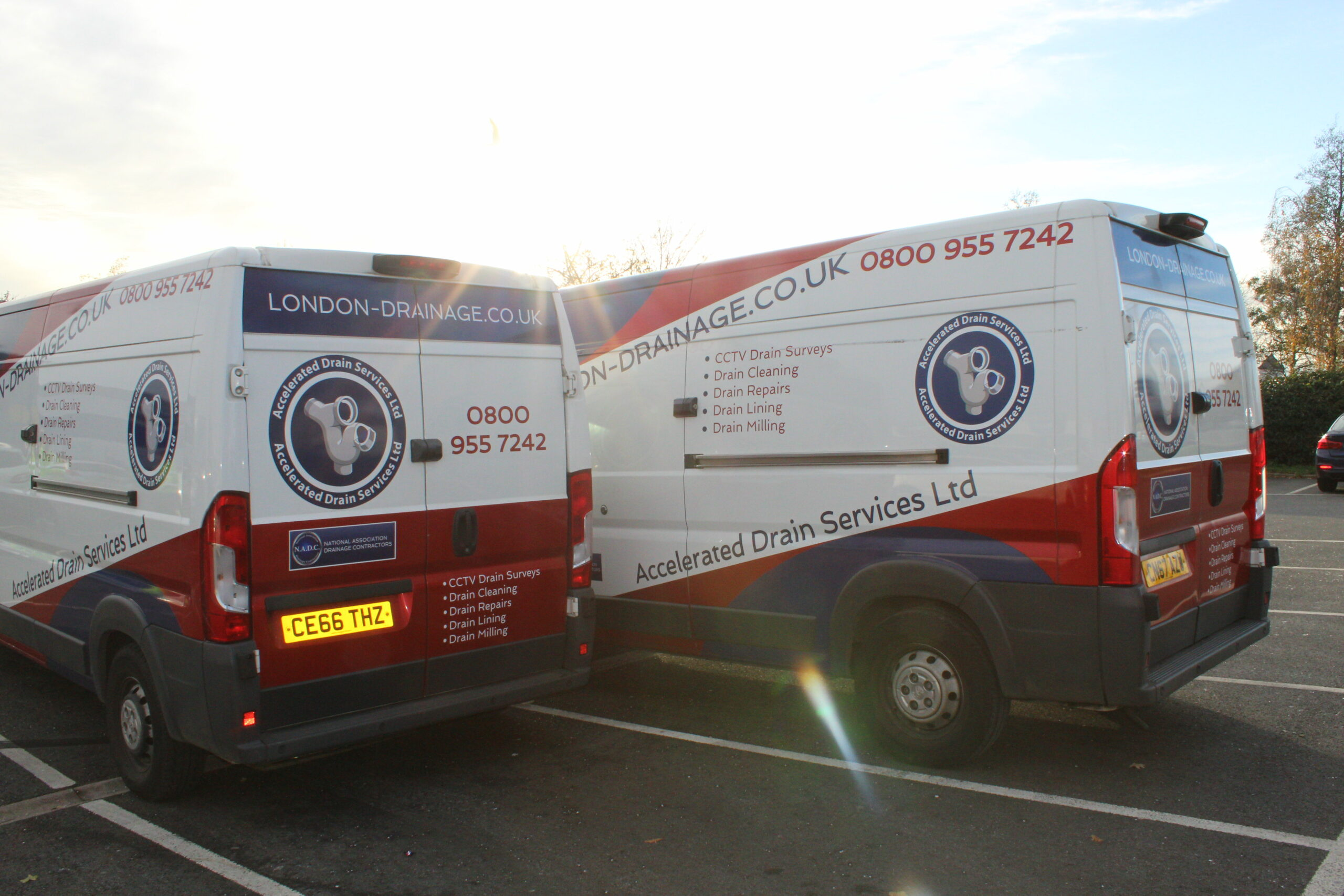 Accelerated Drain Services Van Branding